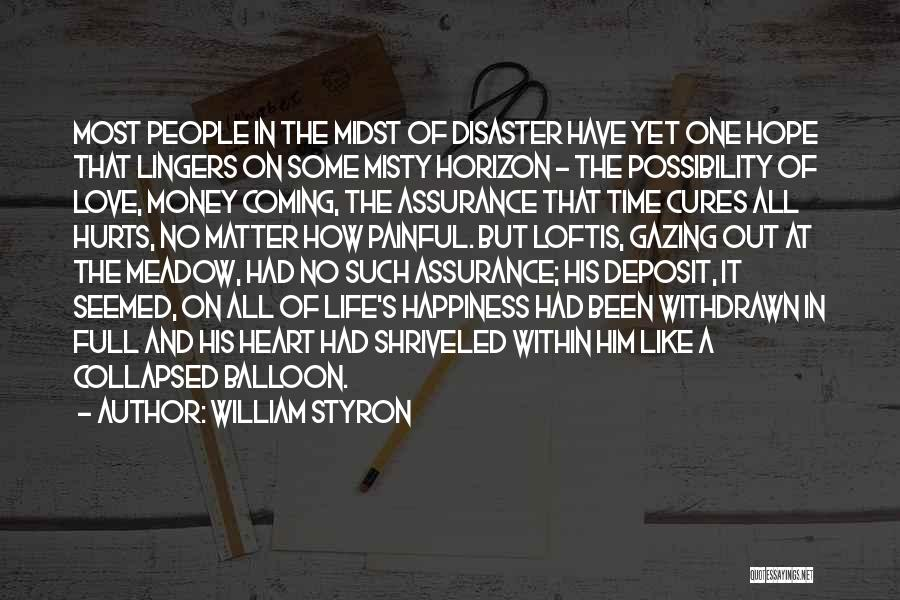 Love Money And Happiness Quotes By William Styron