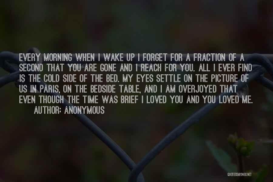 Love Morning Quotes By Anonymous