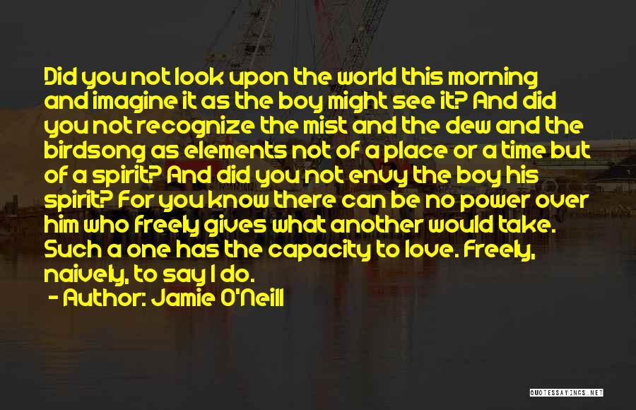 Love Morning Quotes By Jamie O'Neill