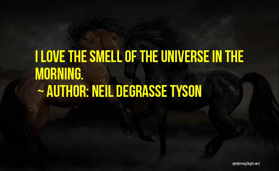 Love Morning Quotes By Neil DeGrasse Tyson