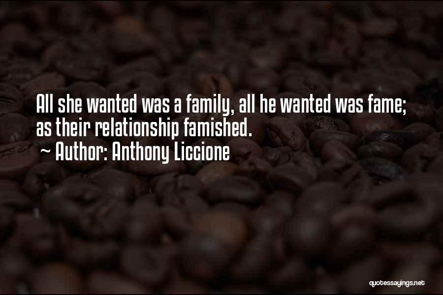 Love Needs Money Quotes By Anthony Liccione