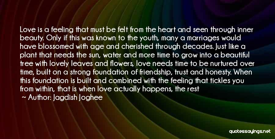 Love Needs Time To Grow Quotes By Jagdish Joghee