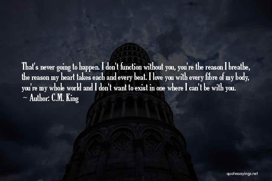 Love Never Exist Quotes By C.M. King