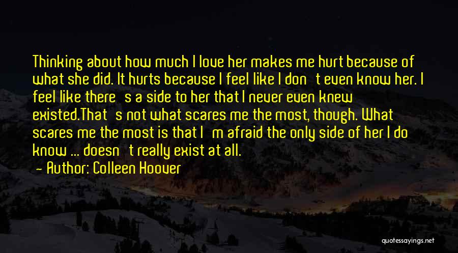 Love Never Exist Quotes By Colleen Hoover