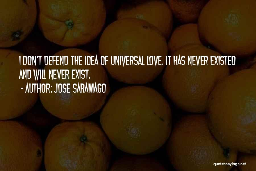 Love Never Exist Quotes By Jose Saramago