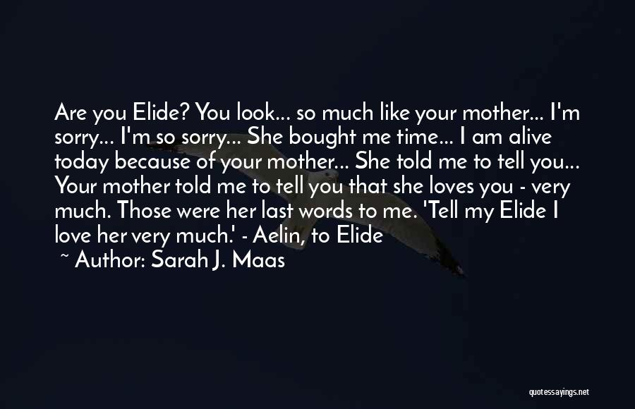 Love Of Your Mother Quotes By Sarah J. Maas