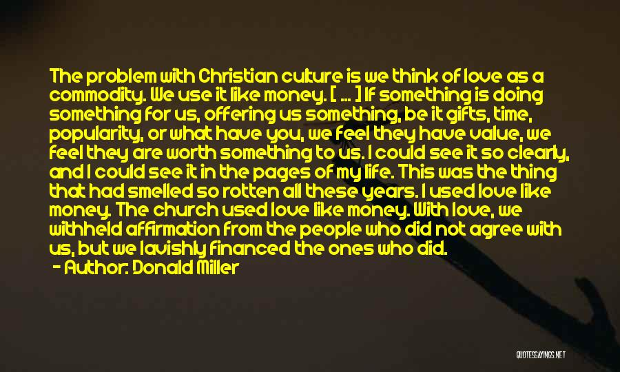 Love Offering Quotes By Donald Miller