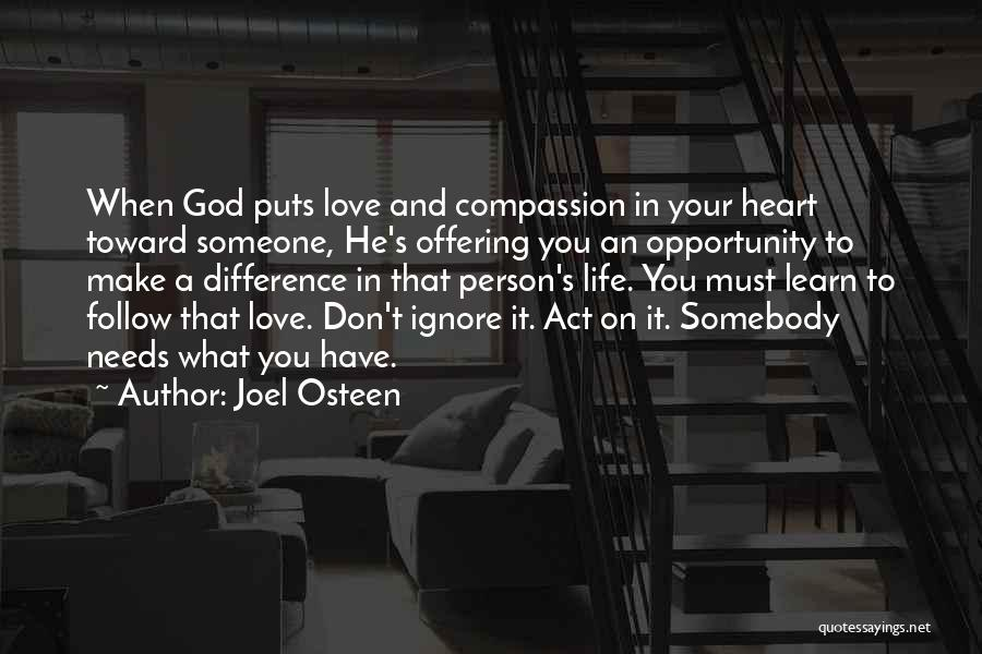 Love Offering Quotes By Joel Osteen