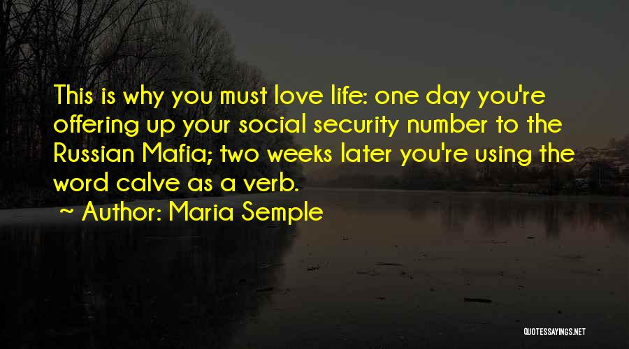 Love Offering Quotes By Maria Semple