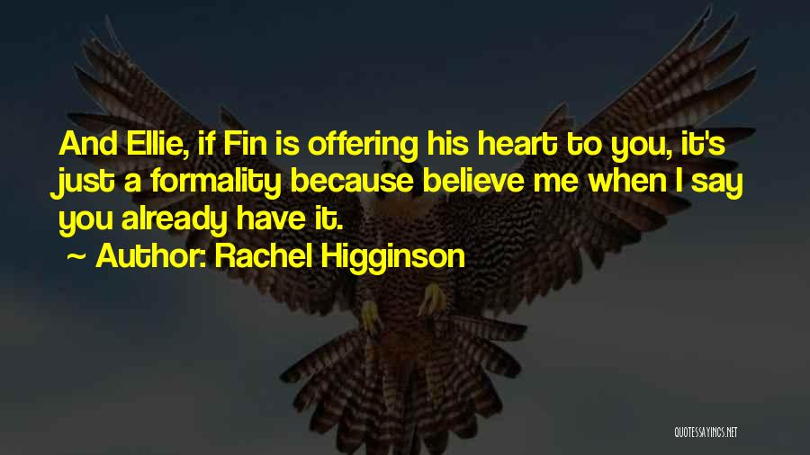 Love Offering Quotes By Rachel Higginson
