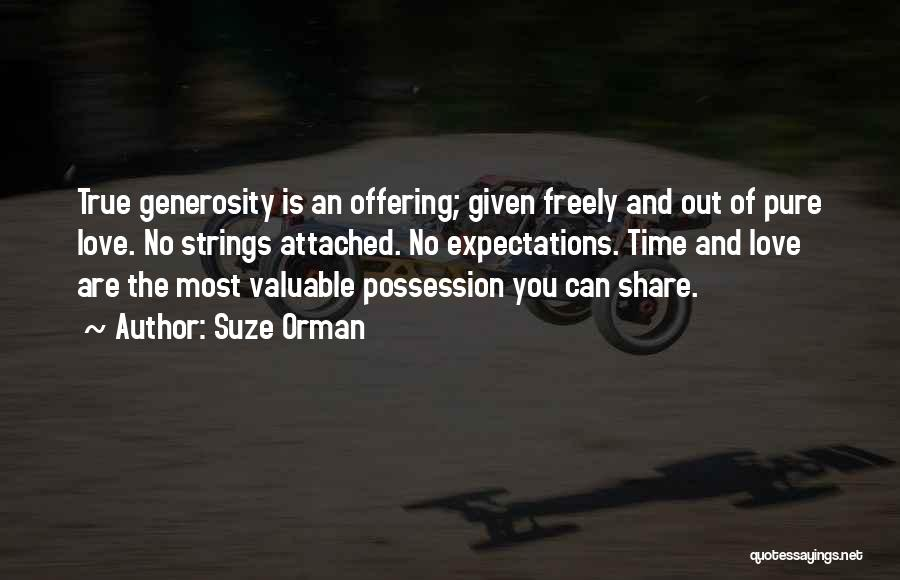 Love Offering Quotes By Suze Orman