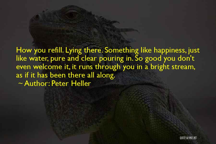 Love Peace And Happiness Quotes By Peter Heller
