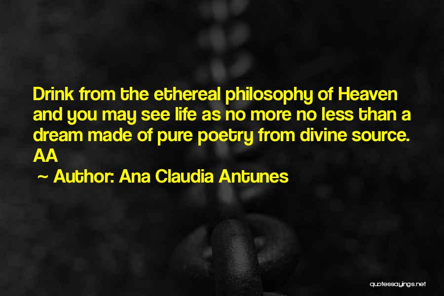 Love Poetic Quotes By Ana Claudia Antunes