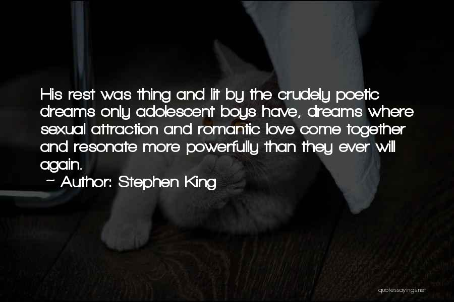Love Poetic Quotes By Stephen King