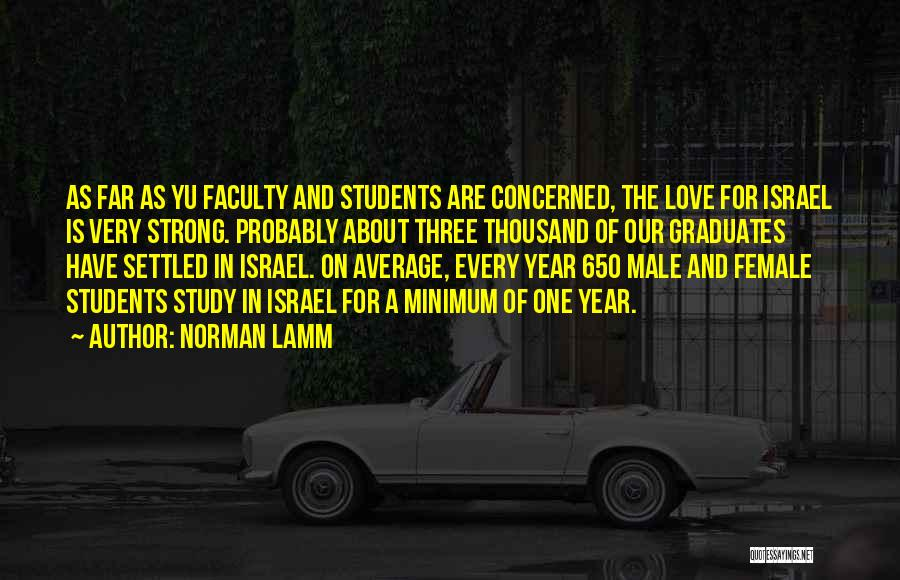 Love Probably Quotes By Norman Lamm