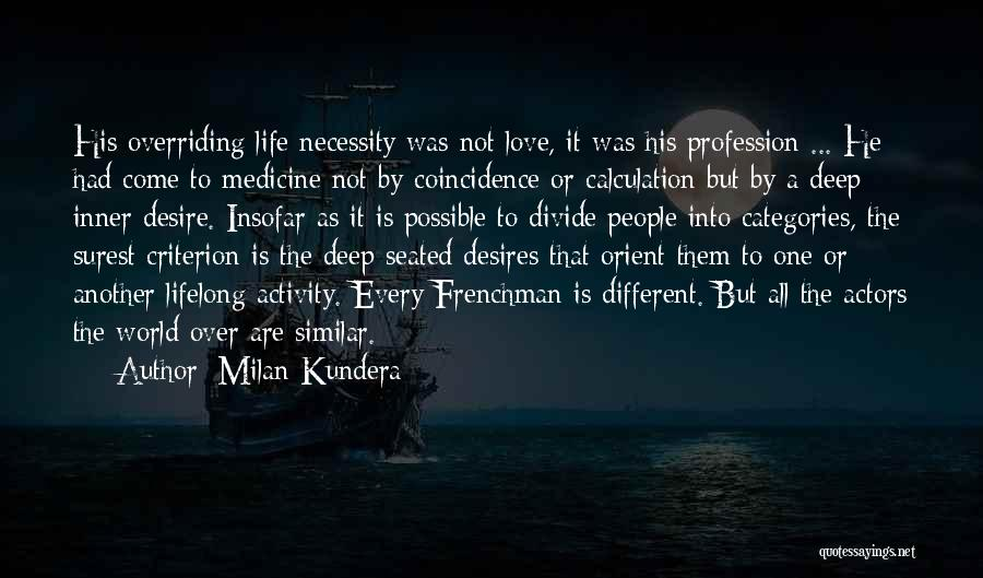 Love Profession Quotes By Milan Kundera