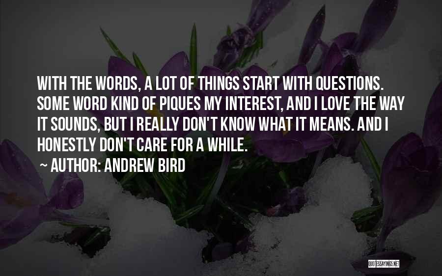 Love Questions Quotes By Andrew Bird