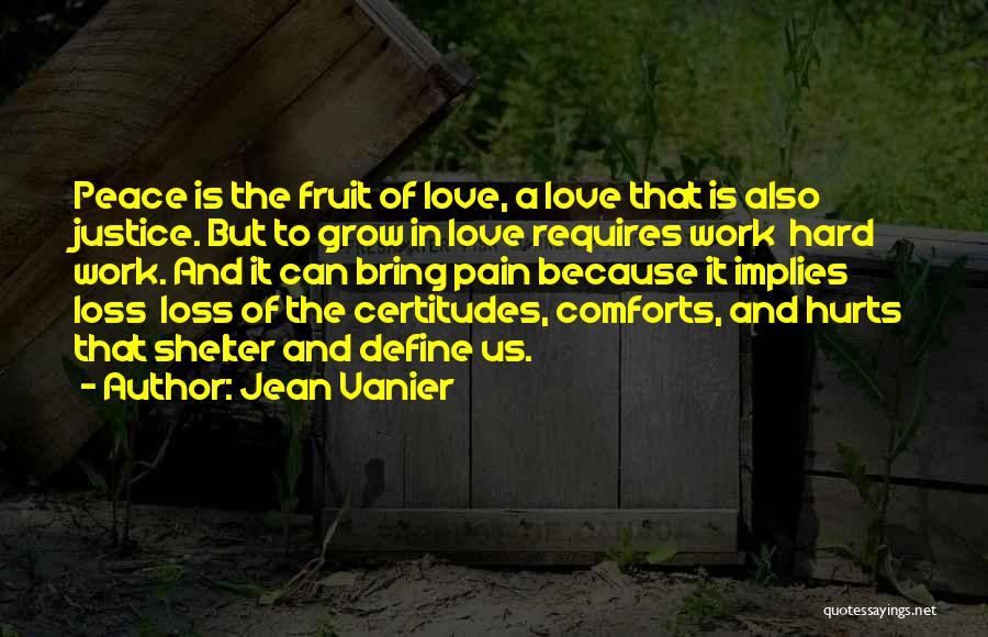 Love Requires Work Quotes By Jean Vanier