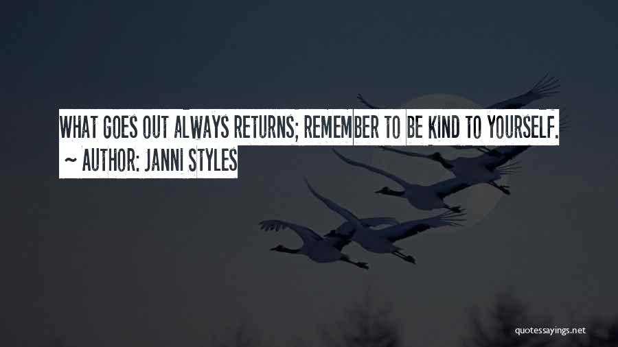 Love Returns Quotes By Janni Styles