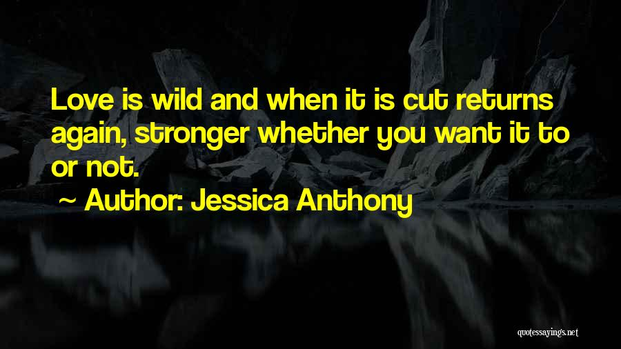 Love Returns Quotes By Jessica Anthony