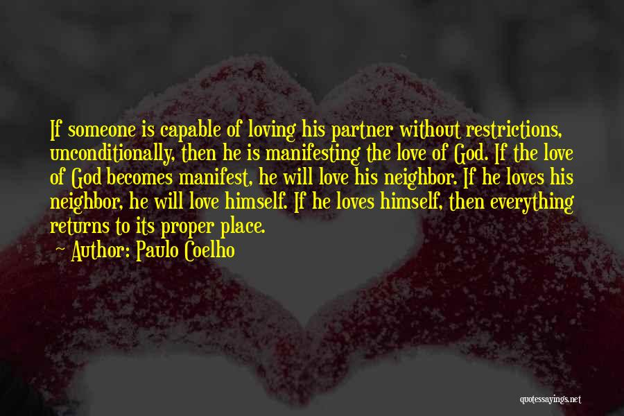 Love Returns Quotes By Paulo Coelho