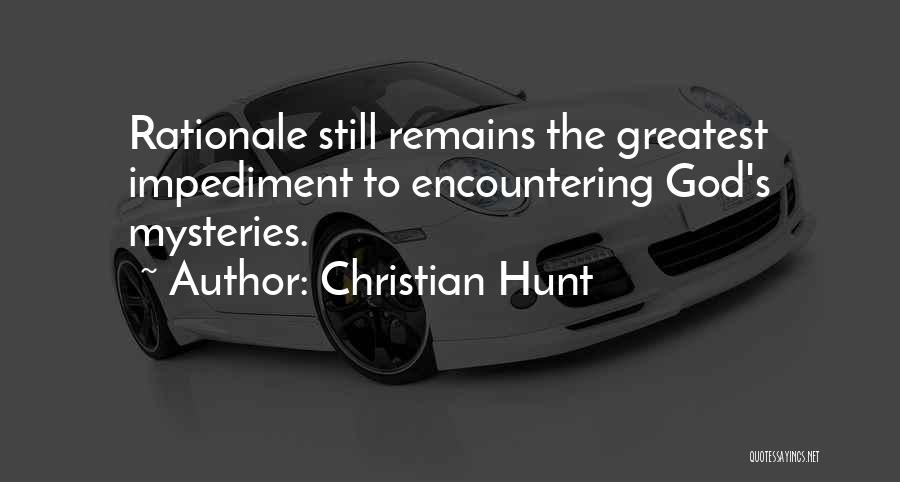 Love Still Remains Quotes By Christian Hunt