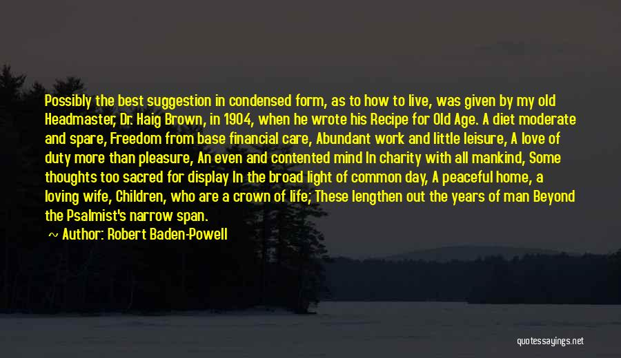 Love Suggestion Quotes By Robert Baden-Powell