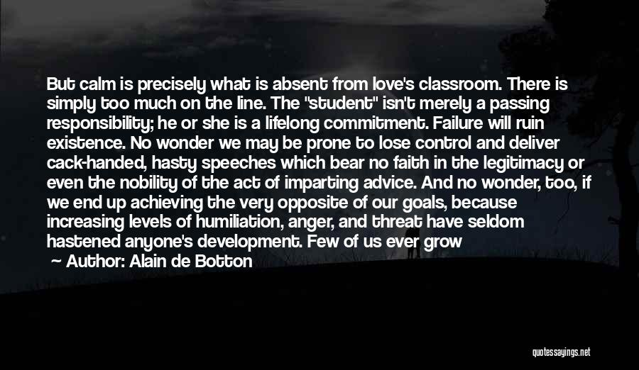Love Suggestions Quotes By Alain De Botton