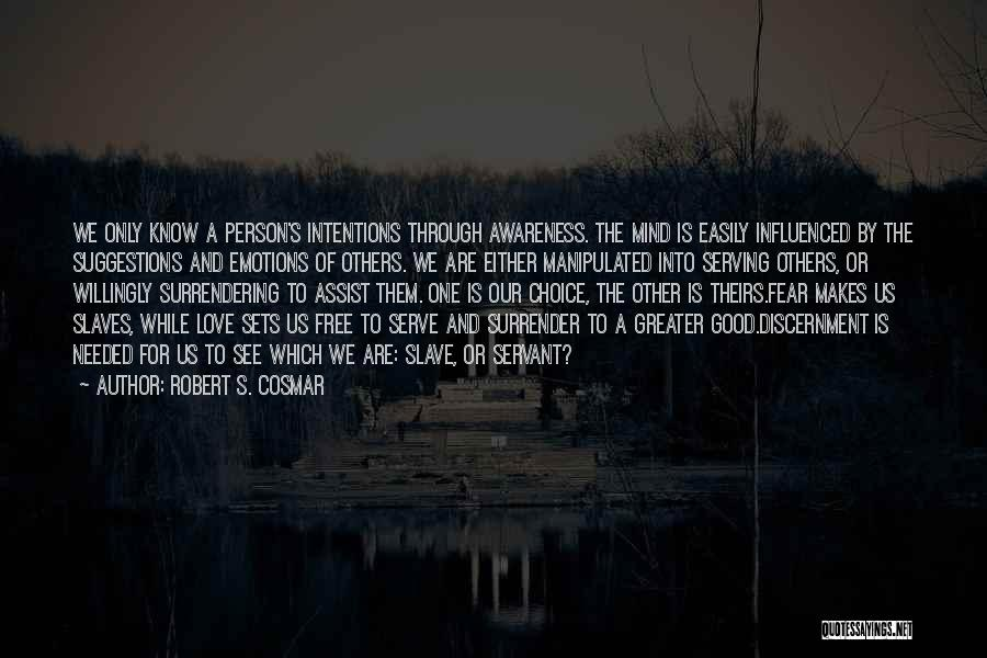 Love Suggestions Quotes By Robert S. Cosmar