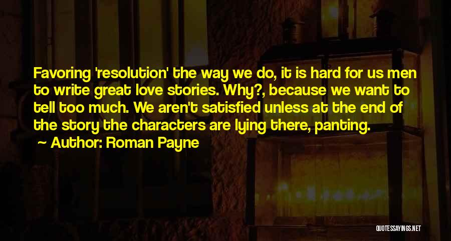 Love Suggestions Quotes By Roman Payne