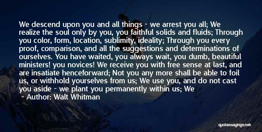 Love Suggestions Quotes By Walt Whitman
