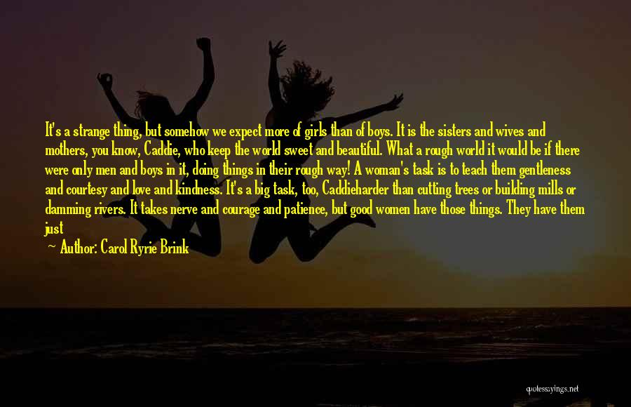 Love Takes Courage Quotes By Carol Ryrie Brink