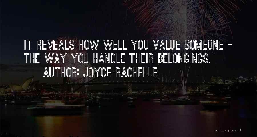 Love The Way You Care Quotes By Joyce Rachelle