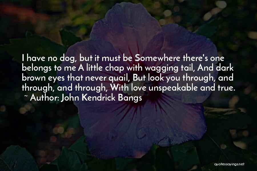 Love Through Eye Quotes By John Kendrick Bangs