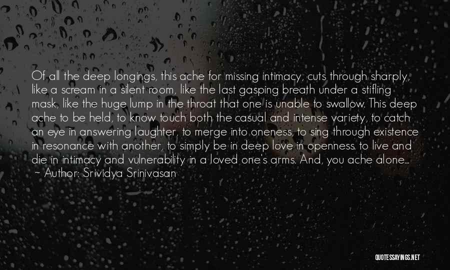 Love Through Eye Quotes By Srividya Srinivasan