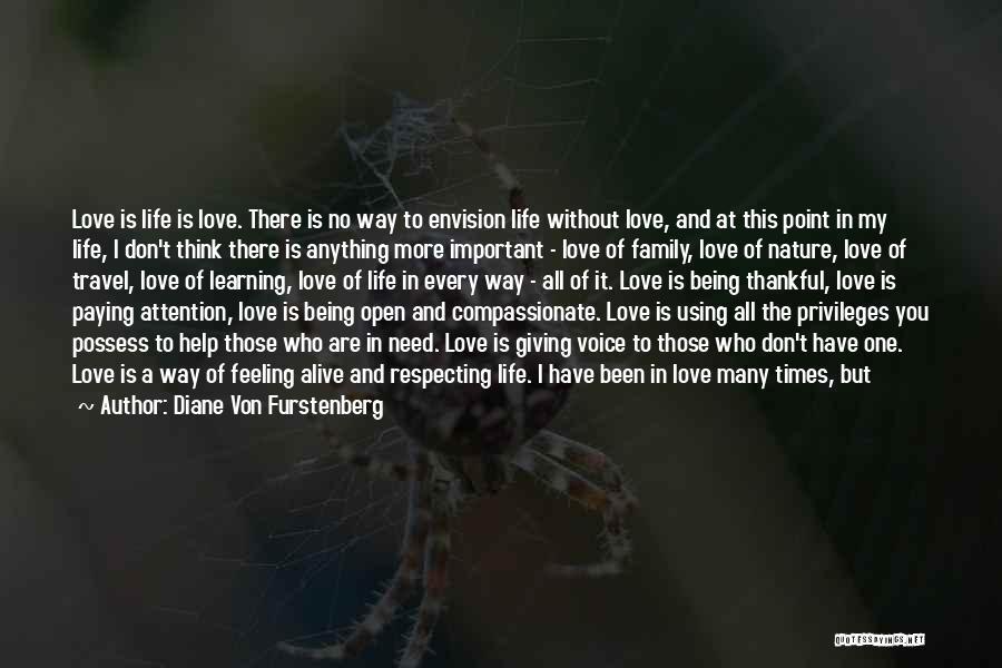 Love To Family Quotes By Diane Von Furstenberg