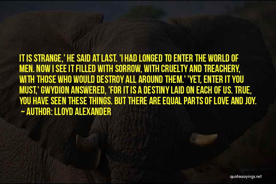 Love Treachery Quotes By Lloyd Alexander