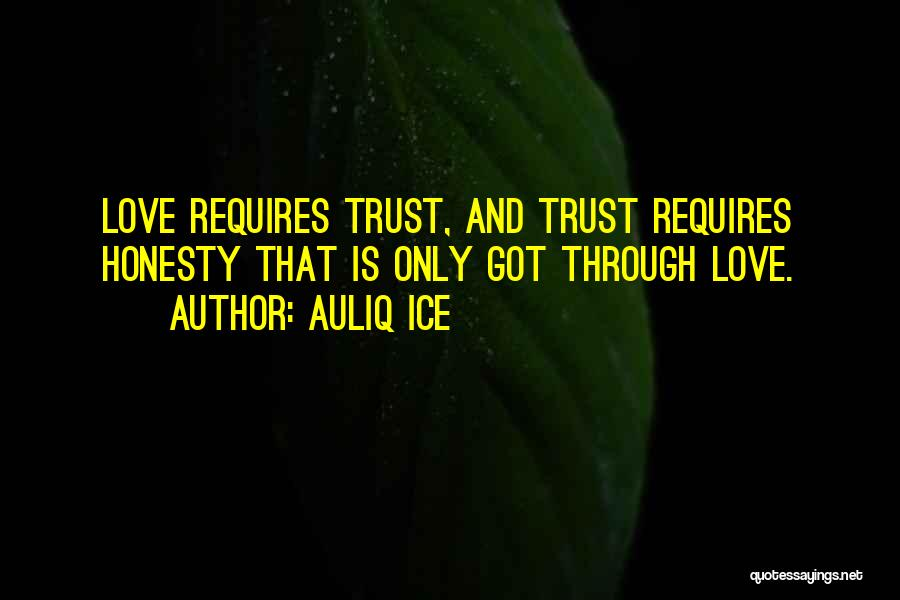 Love Trust And Honesty Quotes By Auliq Ice