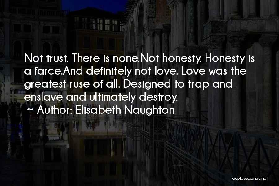 Love Trust And Honesty Quotes By Elisabeth Naughton