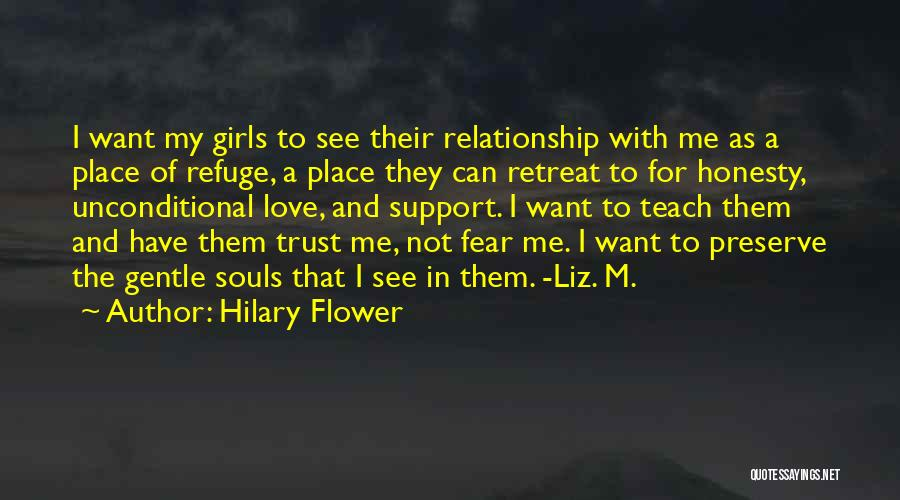 Love Trust And Honesty Quotes By Hilary Flower