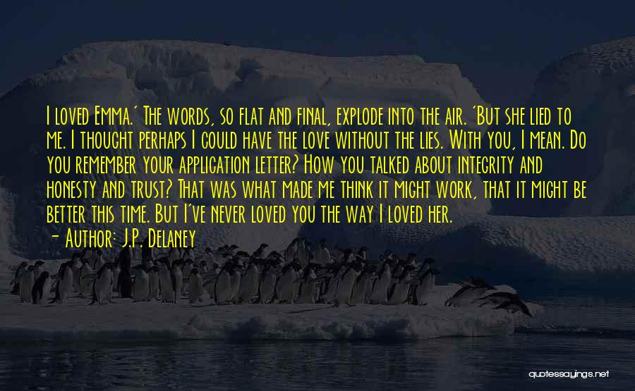 Love Trust And Honesty Quotes By J.P. Delaney