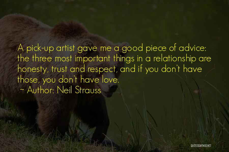 Love Trust And Honesty Quotes By Neil Strauss