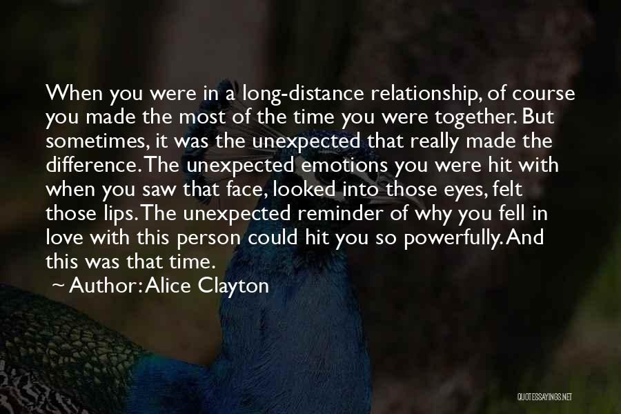 Love Unexpected Quotes By Alice Clayton