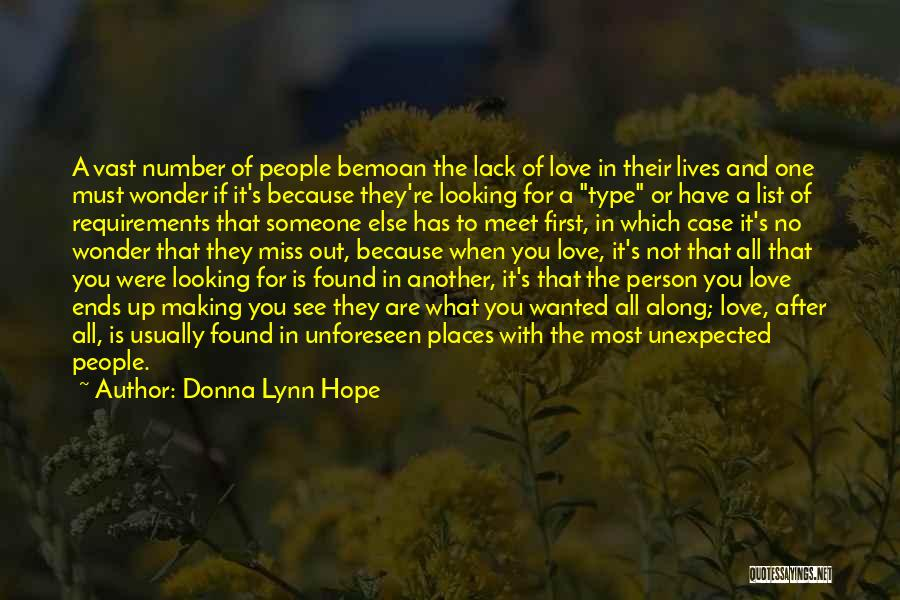 Love Unexpected Quotes By Donna Lynn Hope