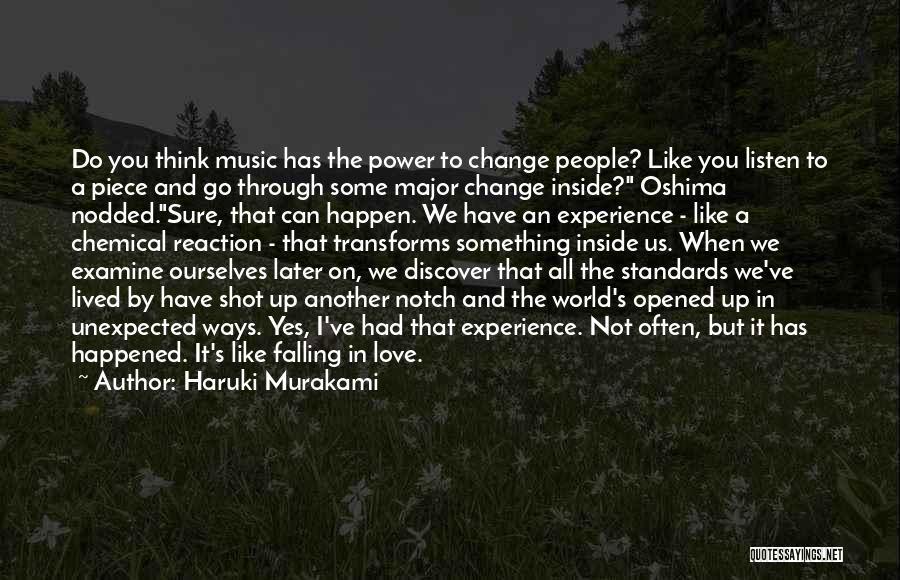 Love Unexpected Quotes By Haruki Murakami
