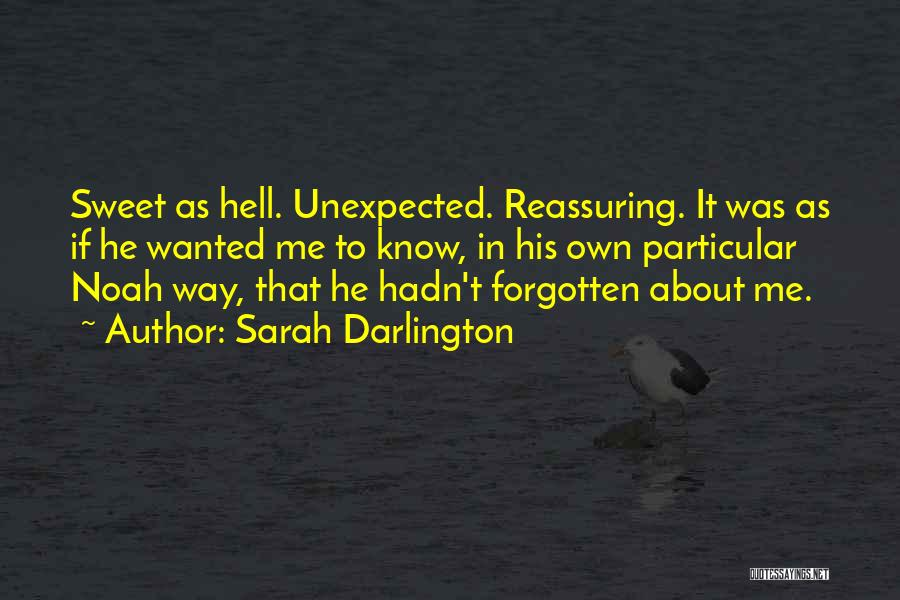 Love Unexpected Quotes By Sarah Darlington