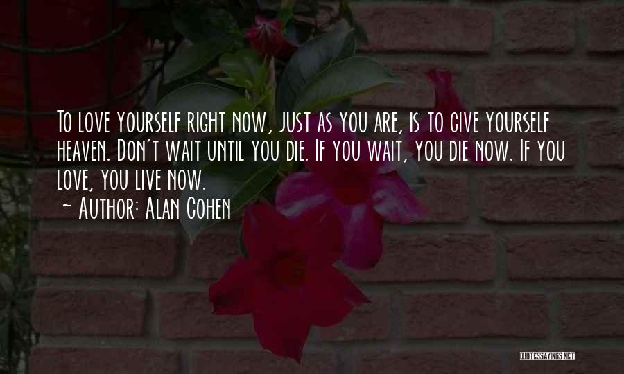 Love Until Die Quotes By Alan Cohen