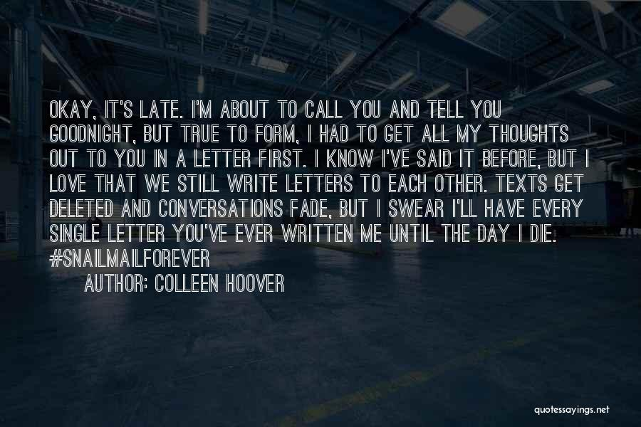 Love Until Die Quotes By Colleen Hoover