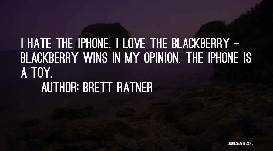 Love Wins Over Hate Quotes By Brett Ratner