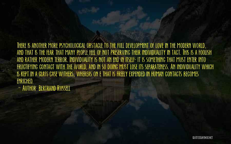 Love Withers Quotes By Bertrand Russell
